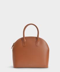 brown calfskin grab bag