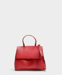 Mini Lady red calfskin grab bag