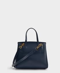 Mini Lady navy calfskin grab bag