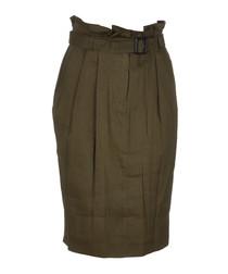 Oregano linen blend skirt