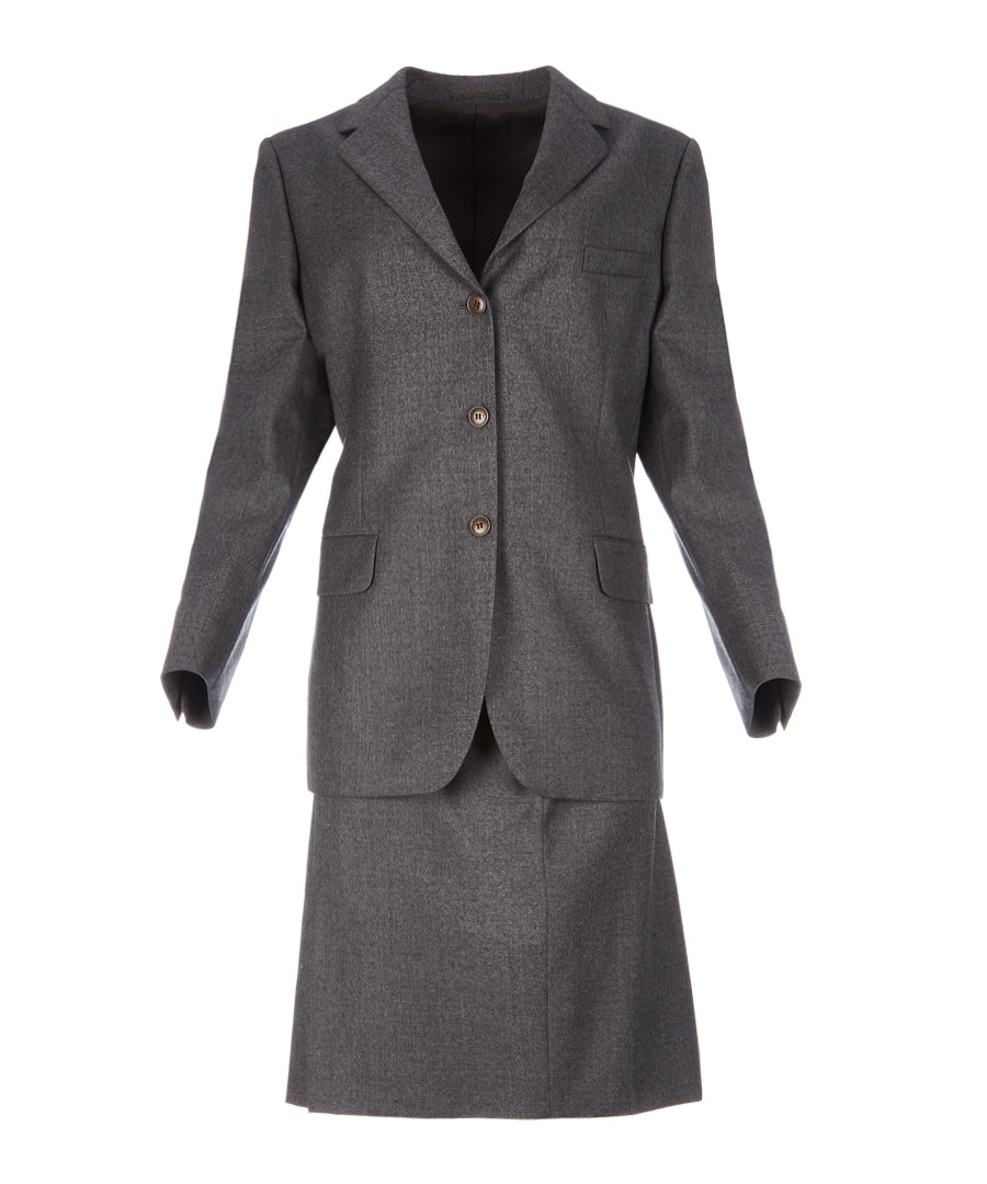 Women's grey pure wool suit Sale - burberry