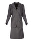 Women's grey pure wool suit Sale - burberry Sale