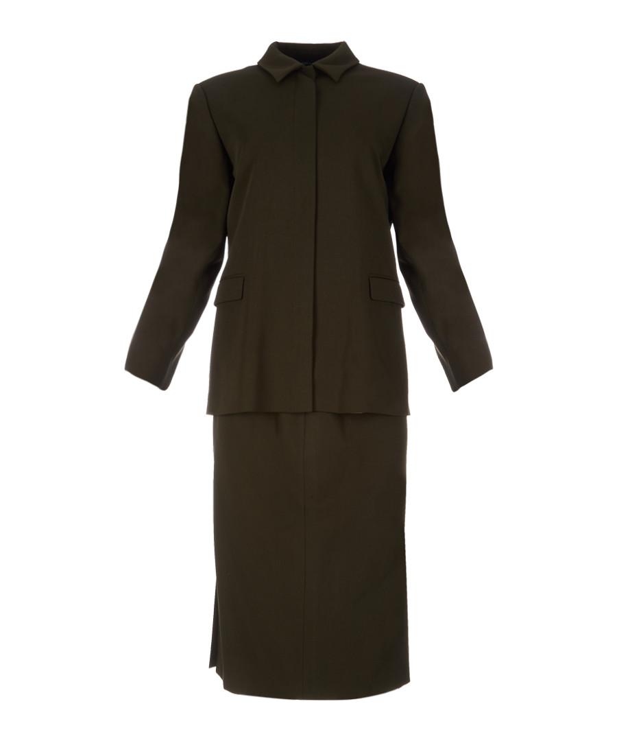 Women's green wool blend suit Sale - burberry