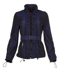 Women's blue belted coat