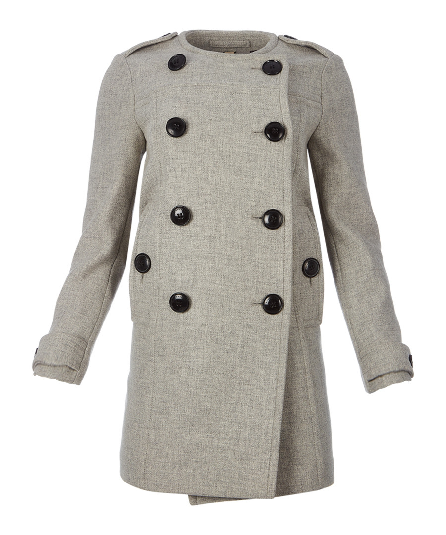 Women's pale grey wool & cashmere coat Sale - burberry