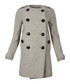 Women's pale grey wool & cashmere coat Sale - burberry Sale