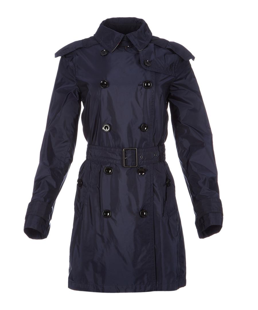 Women's dark indigo belted coat Sale - burberry