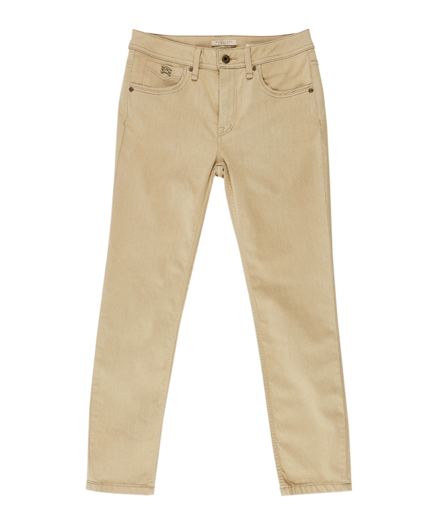 Women's trench cotton blend jeans Sale - burberry