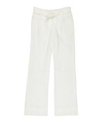 Women's white trousers