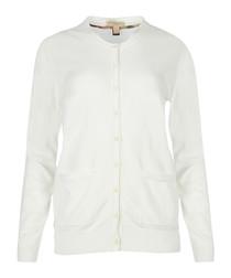 white pure cotton cardigan