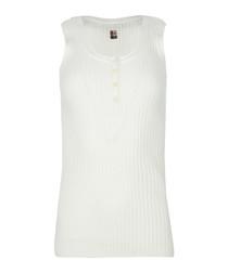 white pure cotton tank top