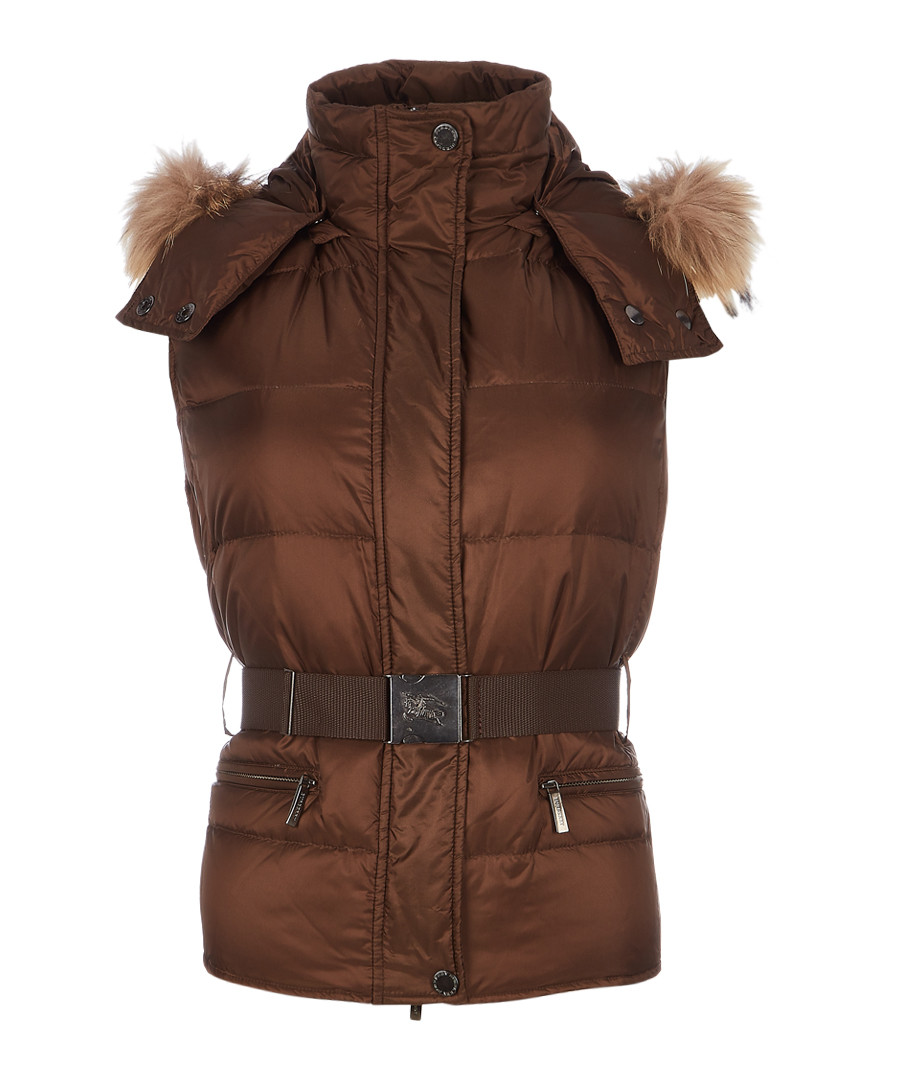 Women's brown padded gilet Sale - burberry