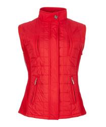 Women's red padded gilet