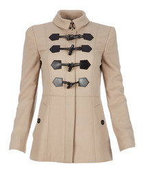 Women's trench wool blend toggle coat