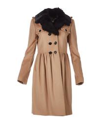 Women's camel wool & cashmere coat