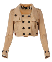 Women's honey cotton crop jacket