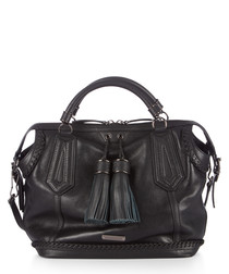 ellers leather tassel grab bag