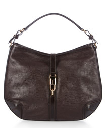 grafton chocolate leather shoulder bag
