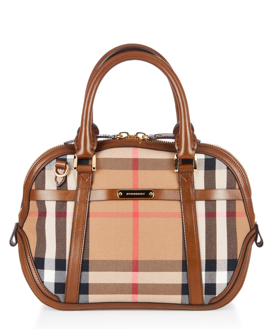 orchard canvas & leather grab bag Sale - burberry