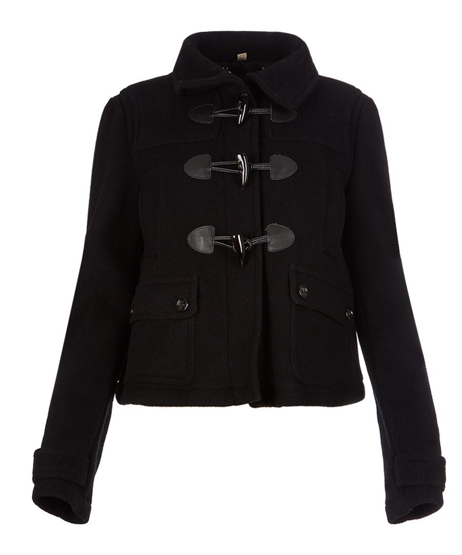 Women's black pure wool coat Sale - burberry