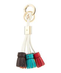leather tassel charm keyring