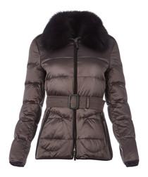 Women's mid grey padded coat