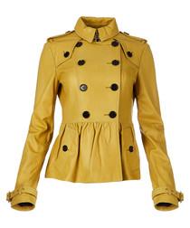 Women's lemon quartz lambskin jacket