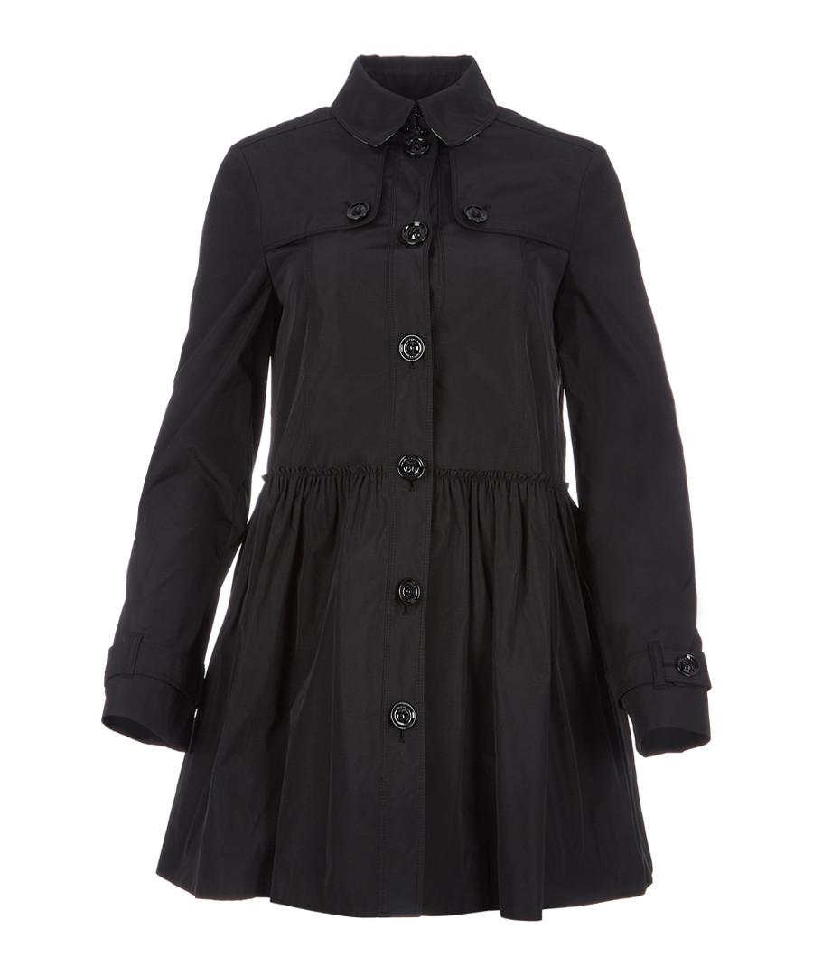 Women's black A-line coat Sale - burberry