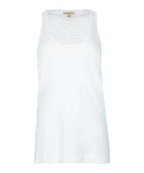 women's white pure cotton vest
