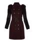Women's black amethyst wool blend coat Sale - burberry Sale