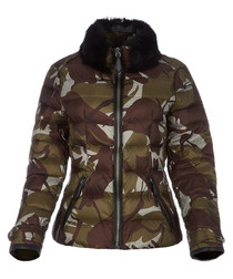 Women's sage camo print jacket