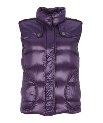 Women's purple padded gilet