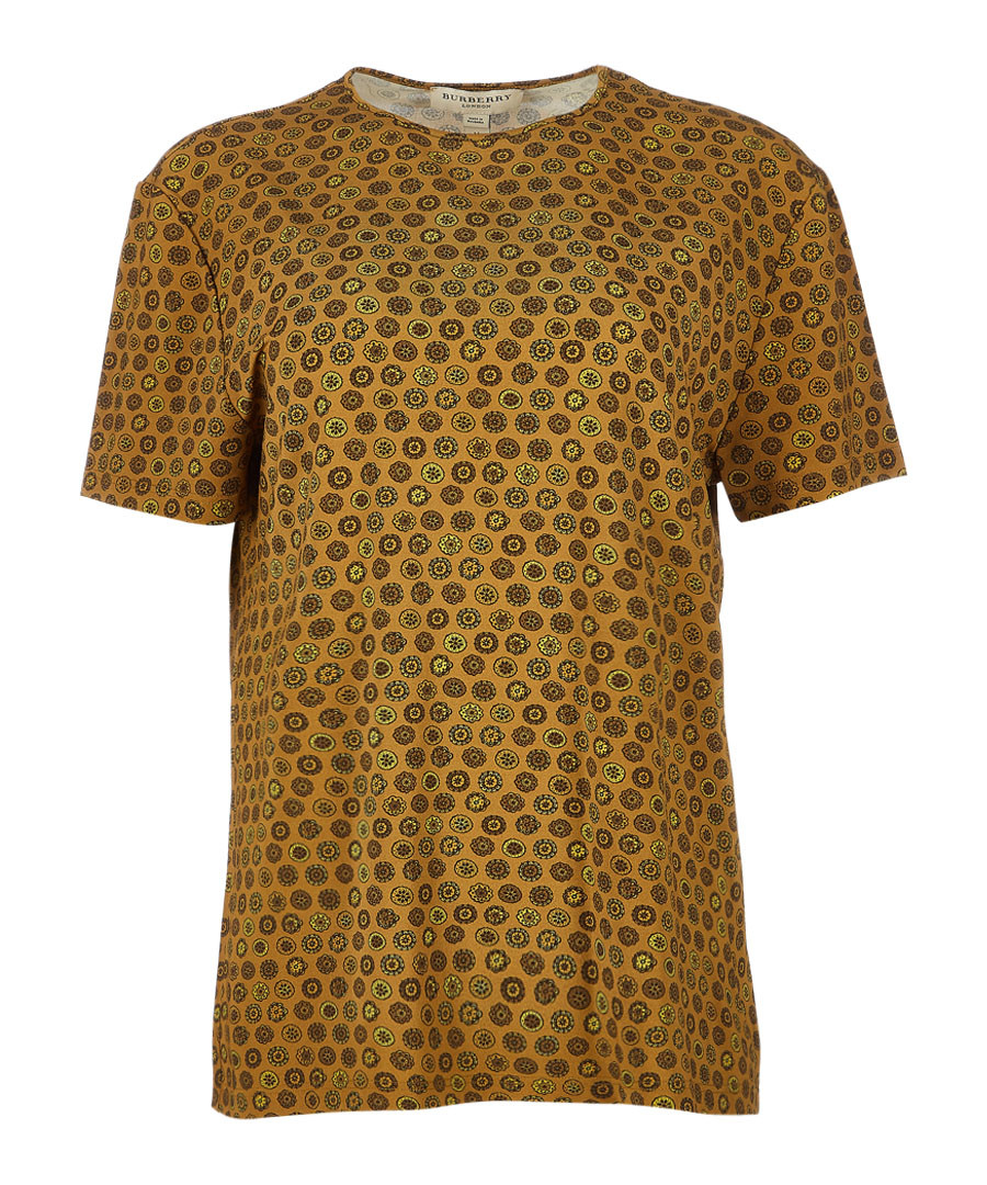 women's mustard tile T-shirt Sale - burberry