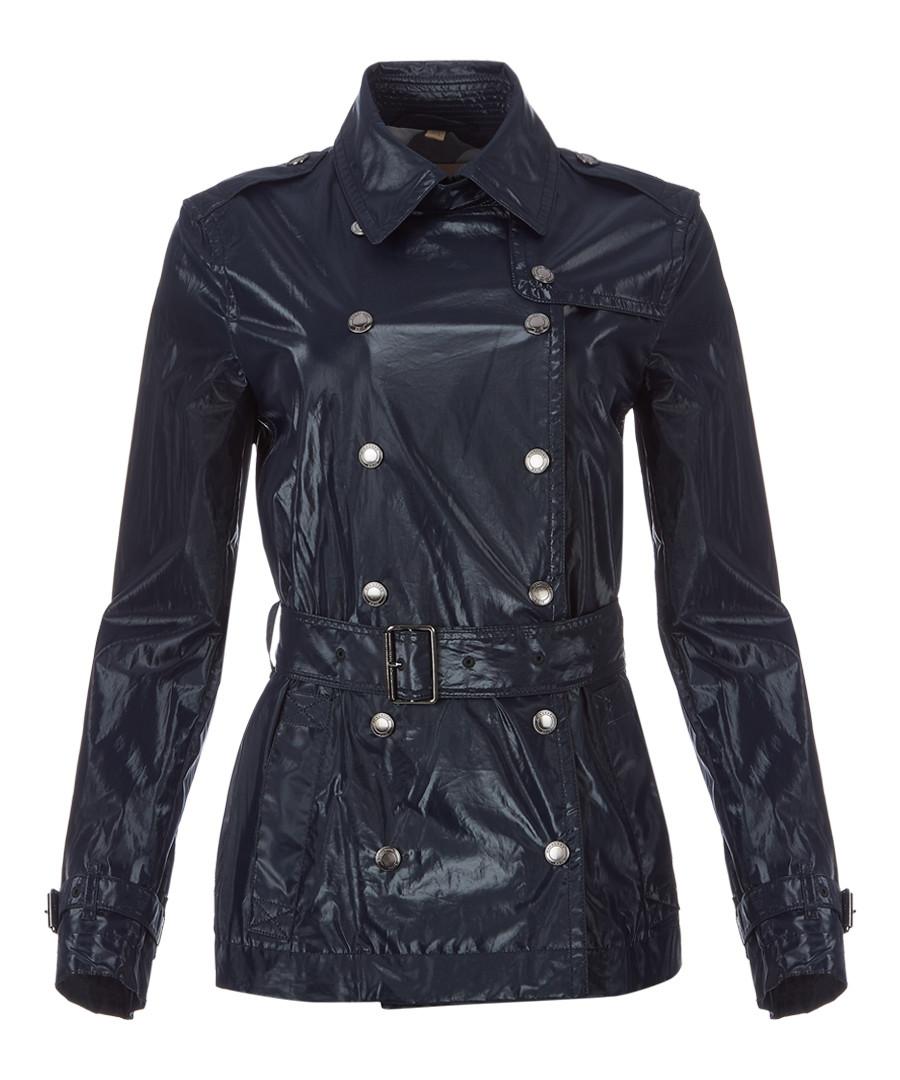 Women's navy belted jacket Sale - burberry
