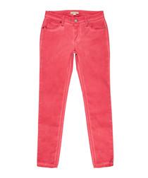 Women's pink sweet cotton jeans