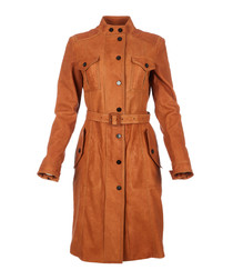Women's naturale lambskin coat