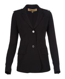 Women's black button jacket