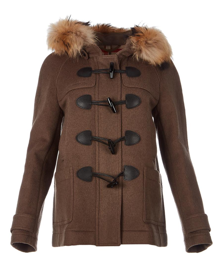 Women's peat pure wool toggle coat Sale - burberry