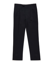Men's navy pure wool trousers