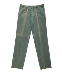 Men's green pure cotton jeans