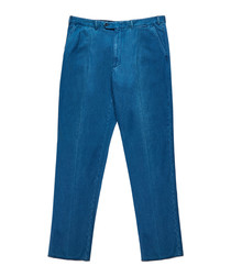 Men's blue pure cotton jeans