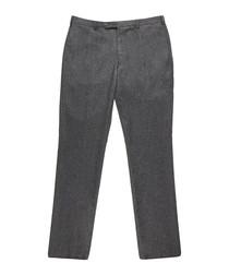 Men's grey pure wool trousers