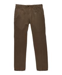 Men's brown cotton blend trousers