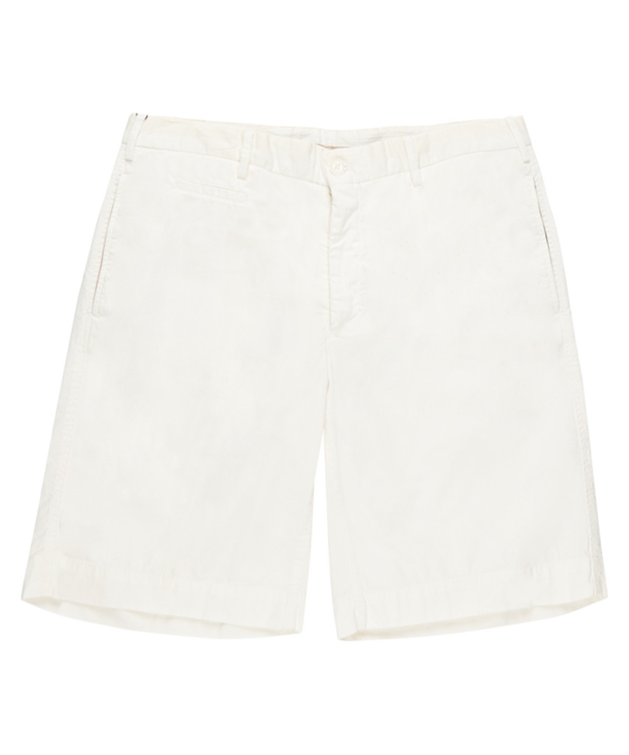 Men's white pure cotton shorts Sale - burberry