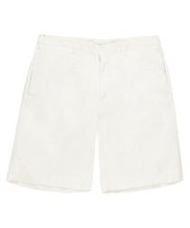 Men's white pure cotton shorts