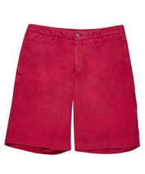 Men's fuchsia pure cotton shorts