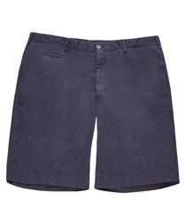 Men's blue pure cotton shorts