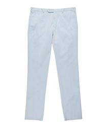 Men's light blue pure cotton trousers