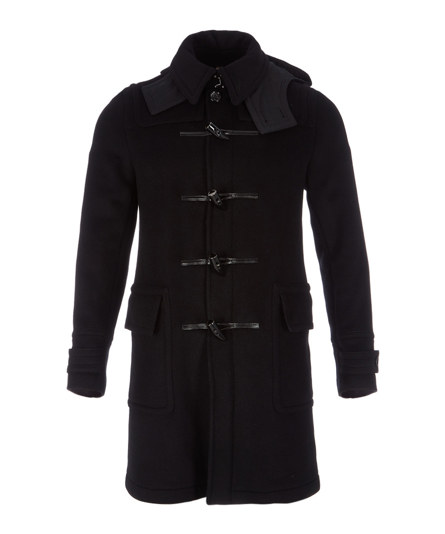 Men's black toggle coat Sale - burberry
