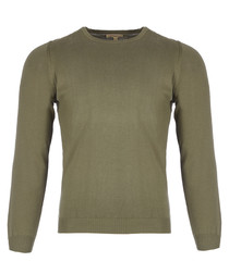 men's khaki pure cotton jumper